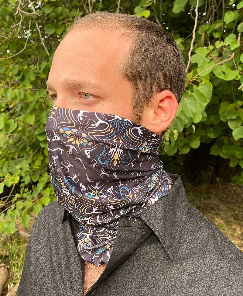 Face Scarf Warmer Tube Neck Scarves Snood Cycling Balaclava Natural Plant Print