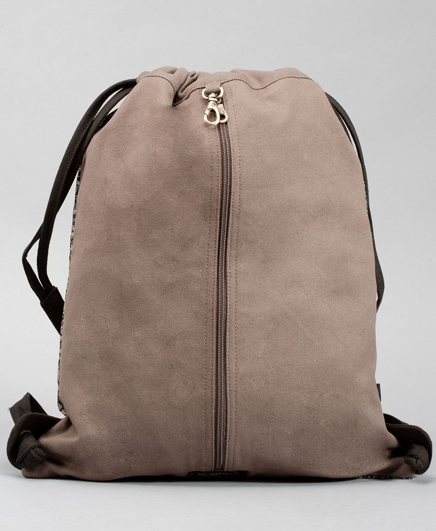 Hempi Drawstring Backpack ➟ Grey