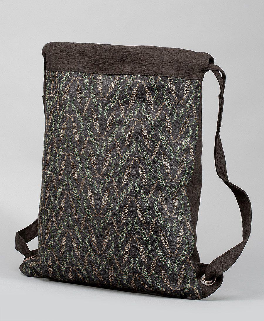 Nyoka Drawstring Backpack ➟ Black