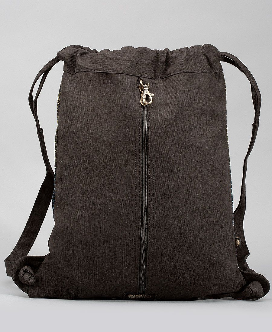 Nyoka Drawstring Backpack ➟ Black