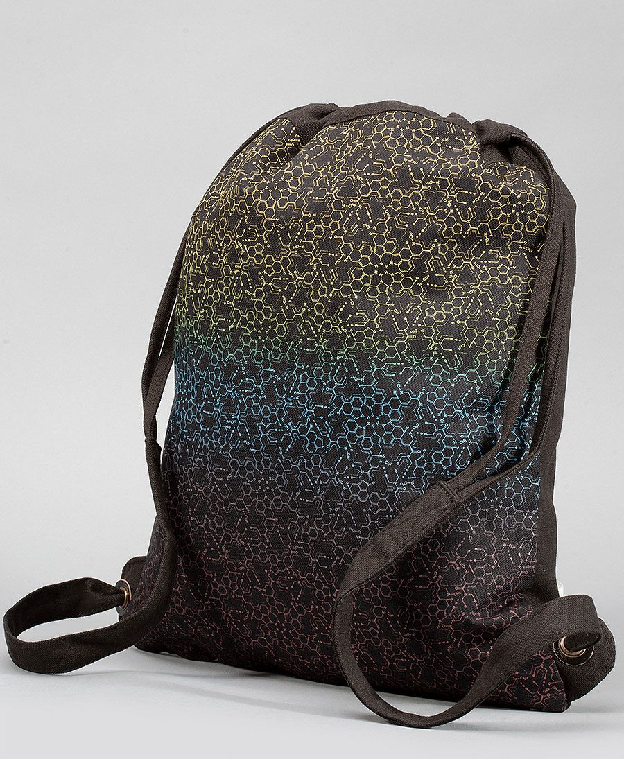 LSD Molecule Drawstring Backpack