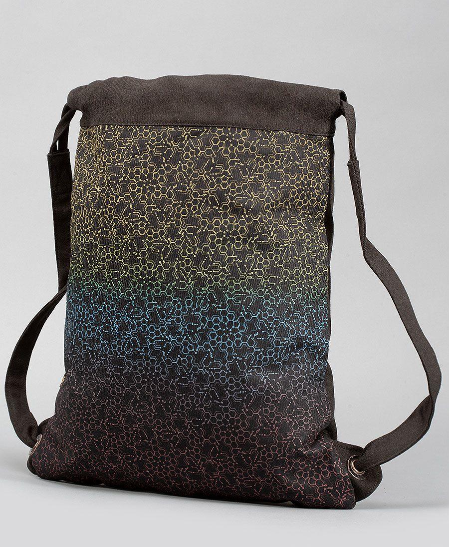 LSD Molecule Drawstring Backpack
