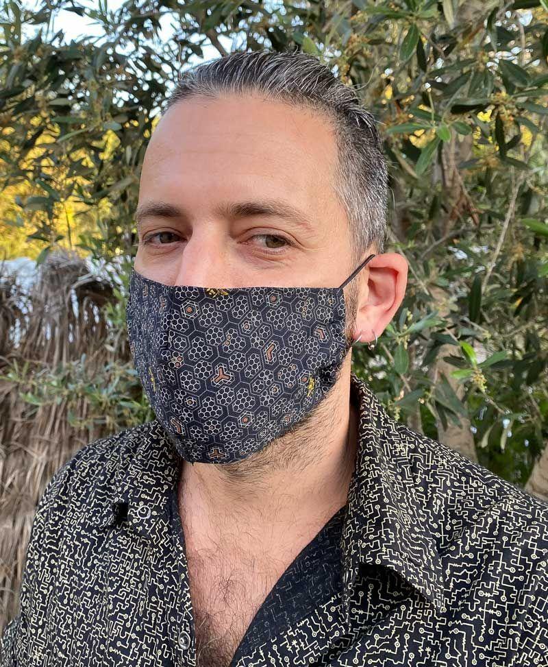 Bees Face Mask ➟ Full Print