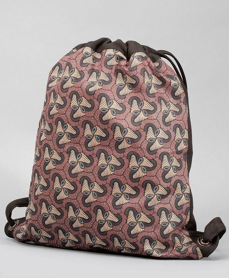 Fungi Drawstring Backpack ➟ Black