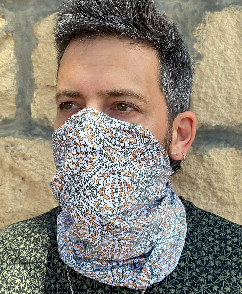 Multifunctional Bandana ➟ Hexit / White