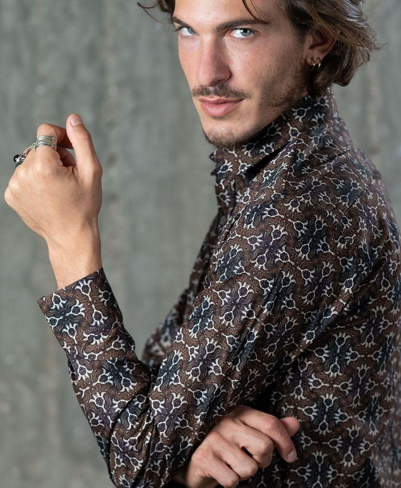 Hamsa Button Shirt- Long Sleeve