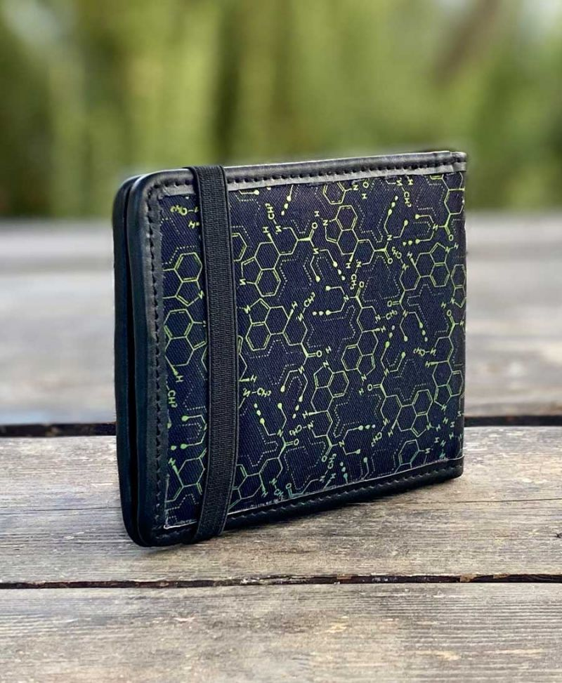 LSD Molecule Mens Wallet / Green