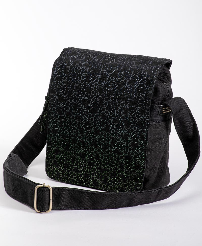 LSD Molecule CrossBody Bag | Black