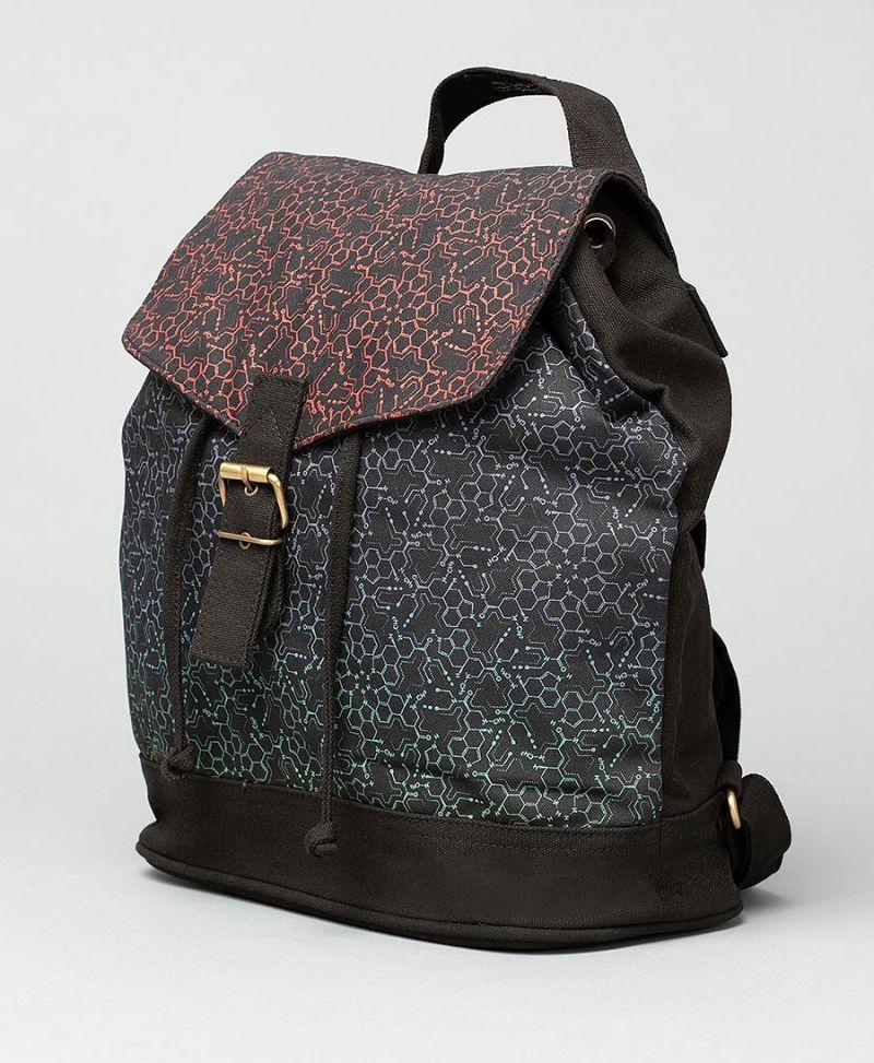 LSD Molecule Mini Backpack / Red Purple