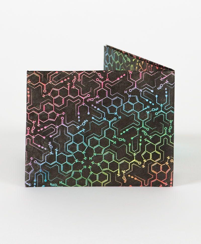 LSD Molecule Tyvek Paper Wallet