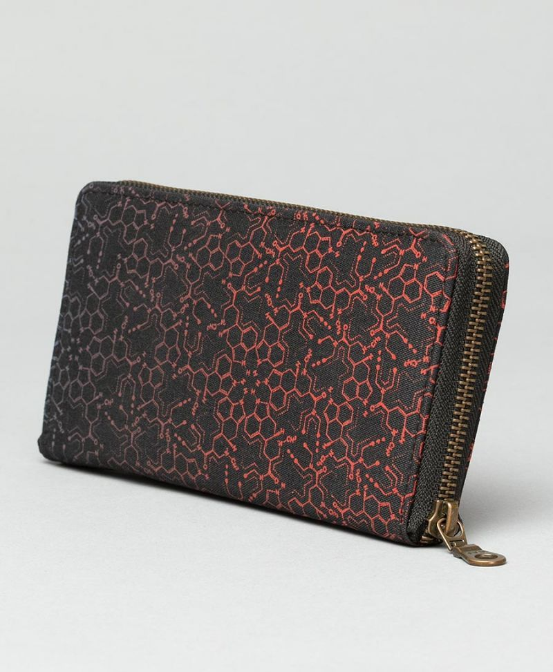 LSD Molecule Women Wallet ➟ Red Purple
