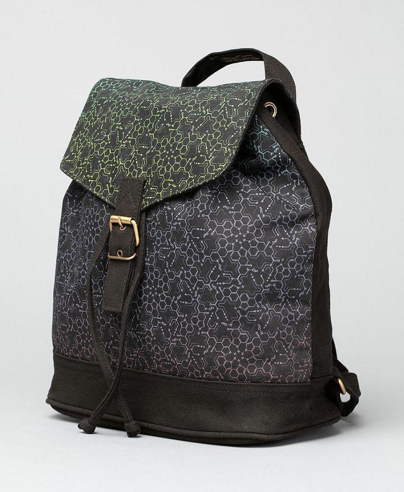 LSD Molecule Mini Backpack / Green Purple