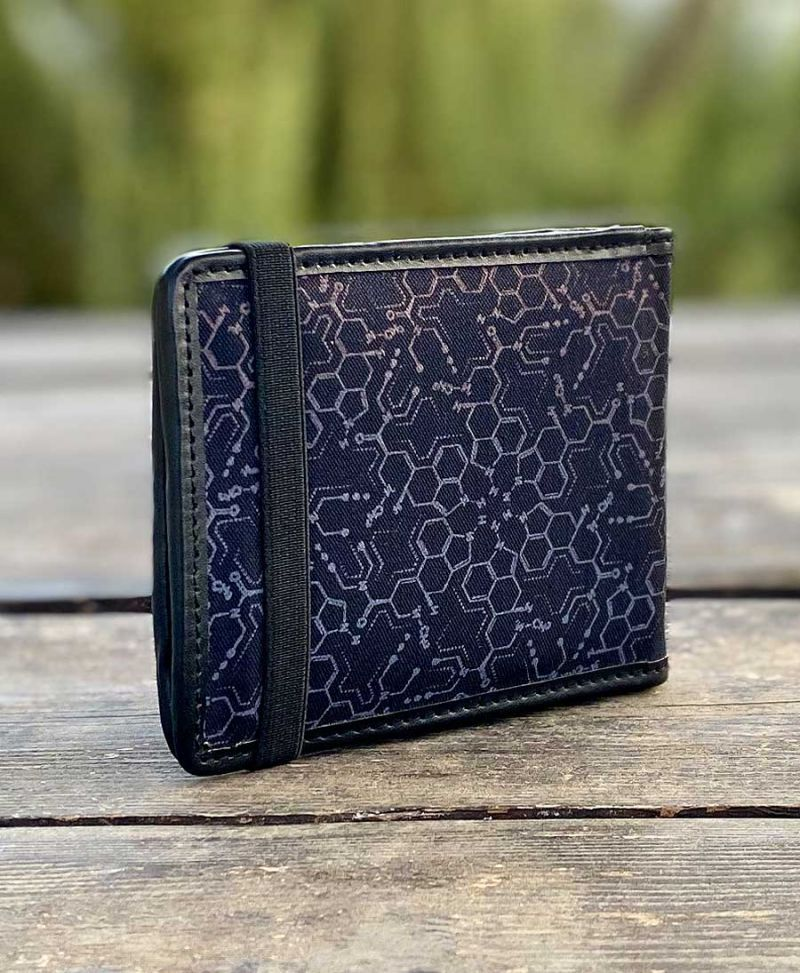 LSD Molecule Mens Wallet / Purple