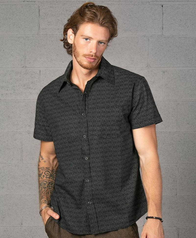 Rudraksha Button Shirt ➟ Black
