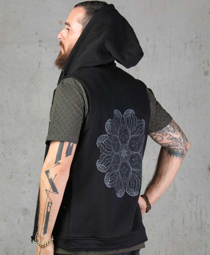 Faceat Hooded Vest ➟ Black