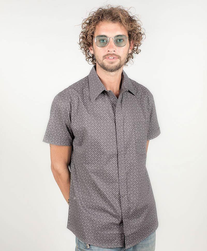 InOut Button Shirt ➟ Grey