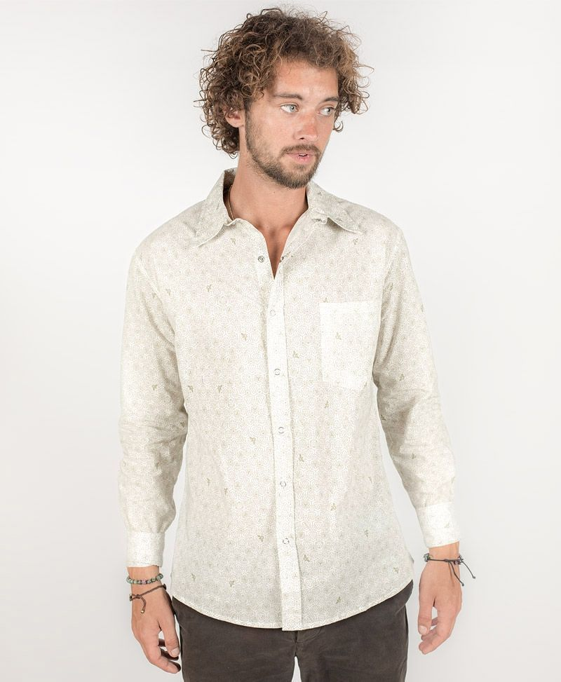 Beez Long Button Shirt ➟ White