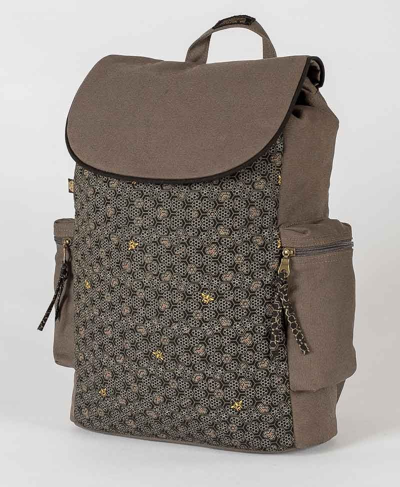Bees Backpack - Grey