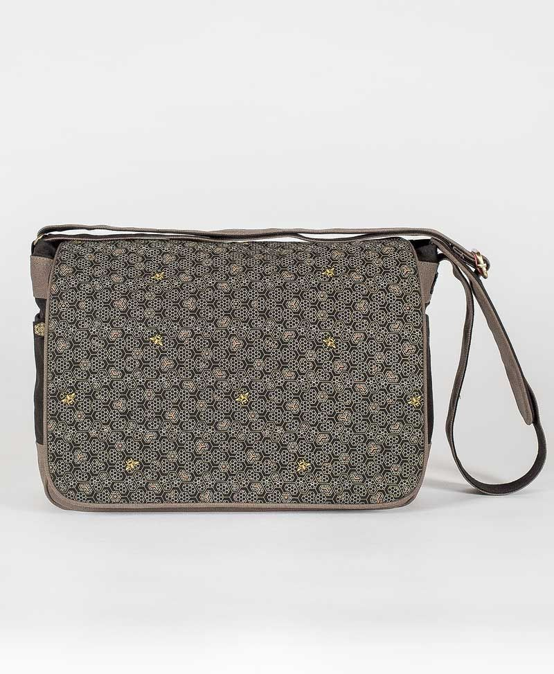 Bees Messenger Bag | Grey