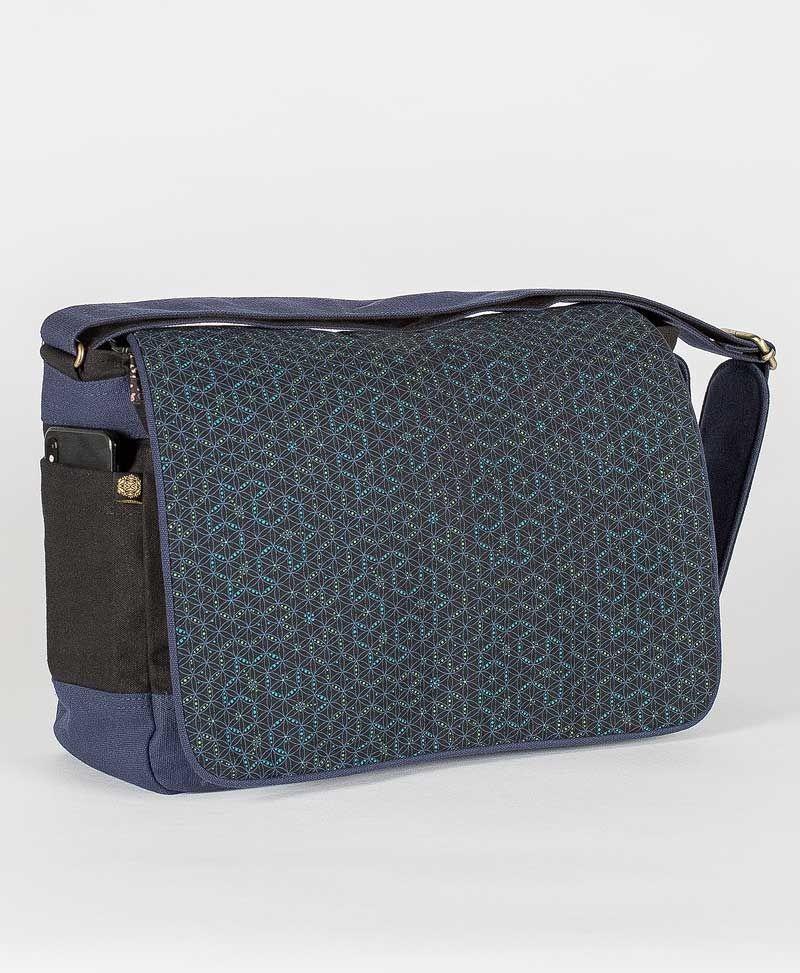 Seeds Messenger Bag | Blue