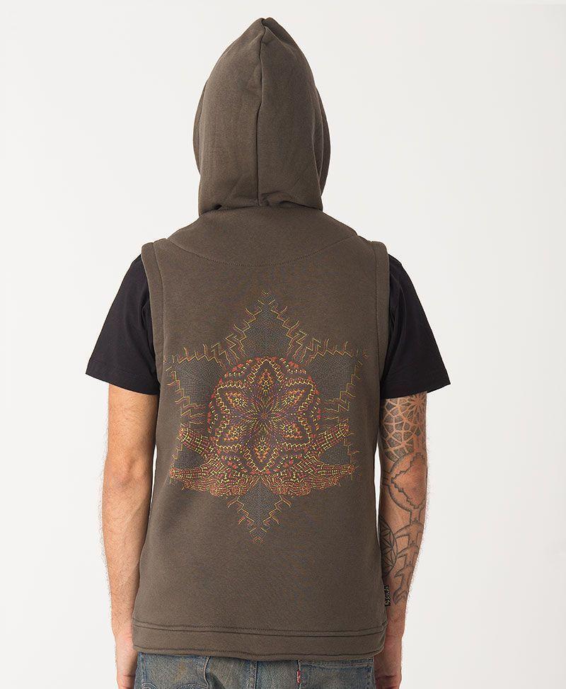 Anahata Hooded Vest ➟ Olive