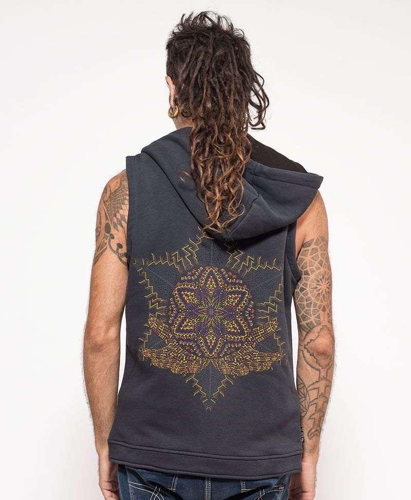 Anahata Hooded Vest ➟ Grey