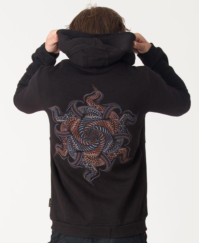 Vortex Hoodie Jacket ➟ Black