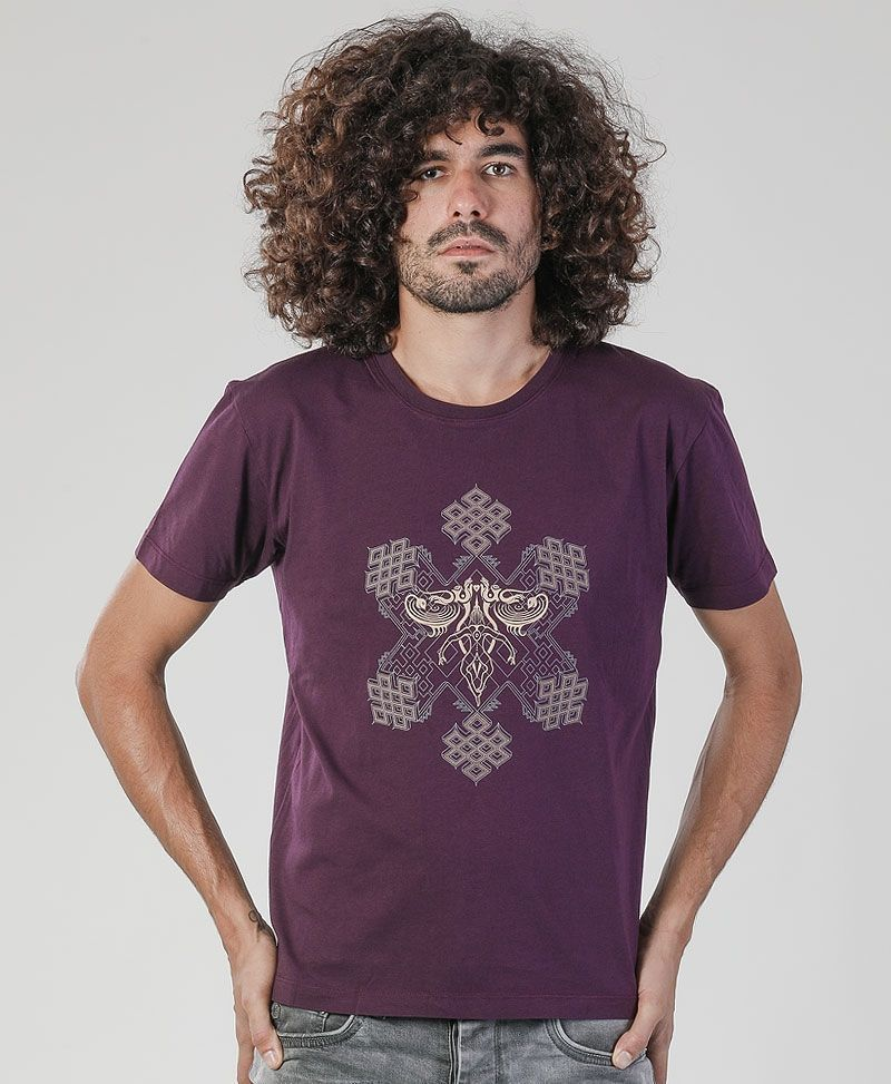 Om On Key T-shirt ➟ Purple