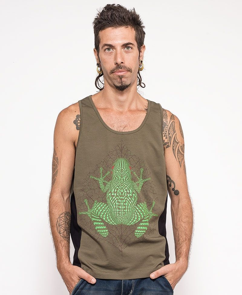 Sapo Kambô Tank Top ➟ Green + Black