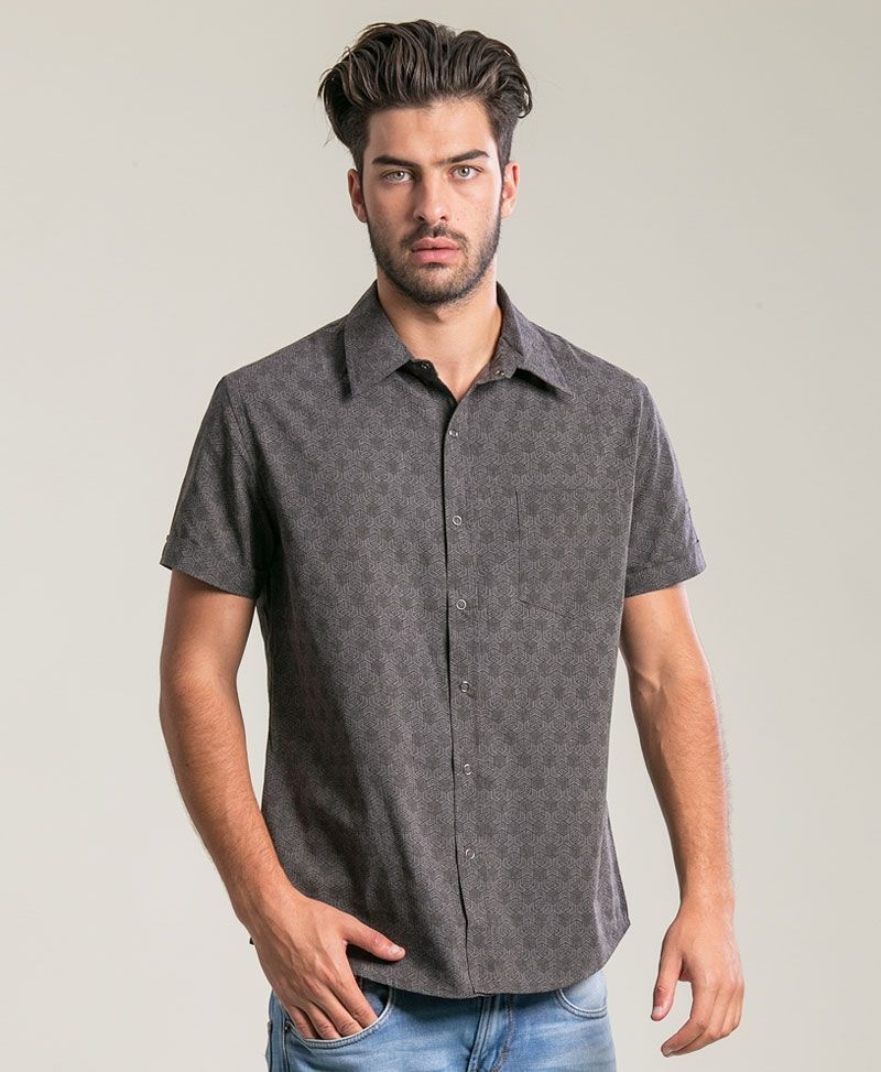Kubic Button Shirt ➟ Dark Grey