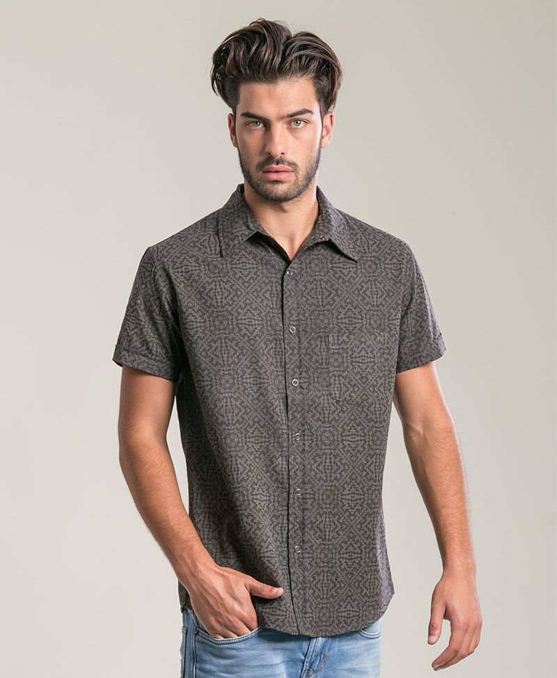Hexit Button Shirt ➟ Grey