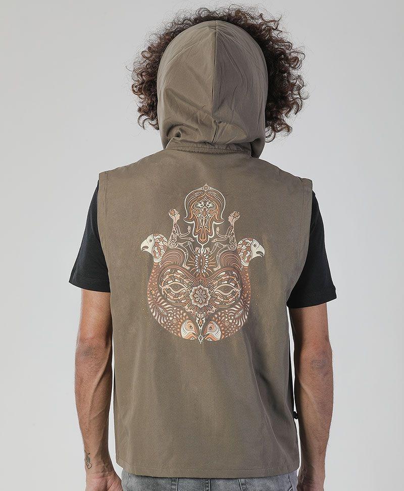 Hamsa Microfiber Vest ➟ Grey