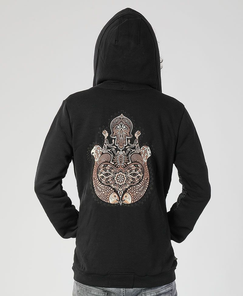 Hamsa Hoodie Jacket ➟ Black