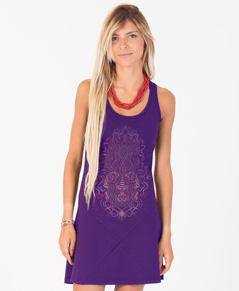TriMurti Tunic Dress ➟ Purple