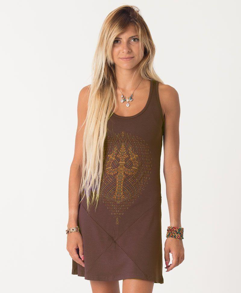 Trishula Tunic Dress ➟ Brown