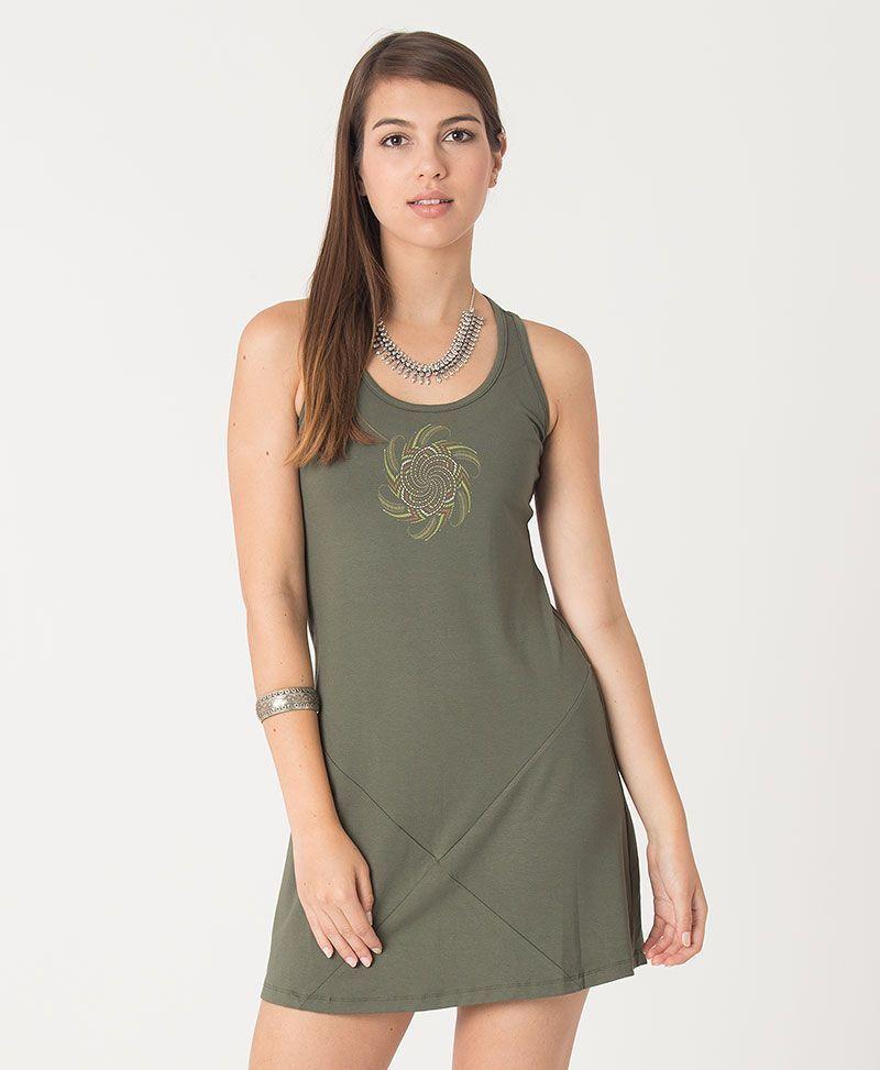 Vortex Tunic Dress ➟ Green