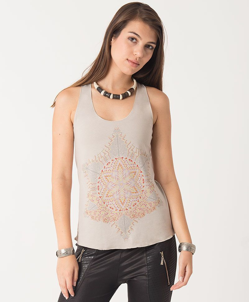 Anahata Top ➟ Brown / Mustard / Stone