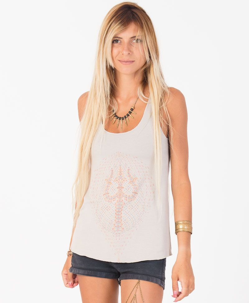 Trishula Top ➟ Brown / Mustard / Stone