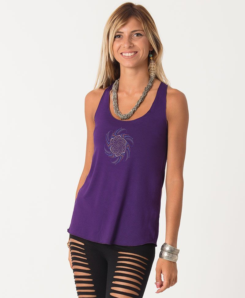 Vortex Top ➟ Purple / Blue / Red