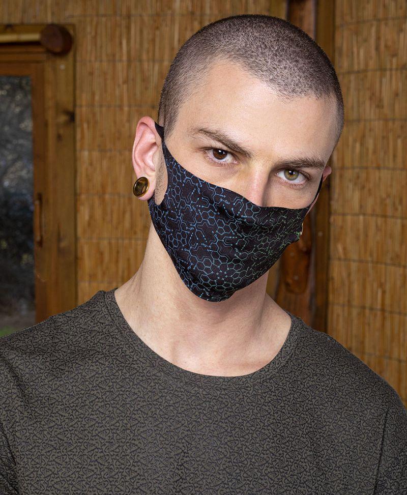 LSD Molecule Face Mask ➟ Black