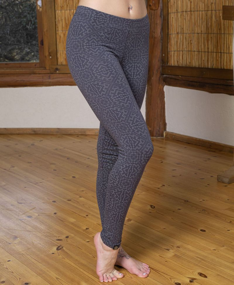 Hexit Leggings- Grey / Full Length