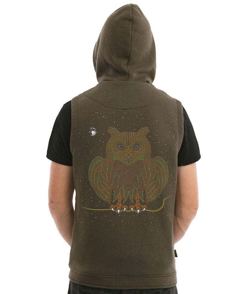 Uhloo Hooded-Vest ➟ Olive