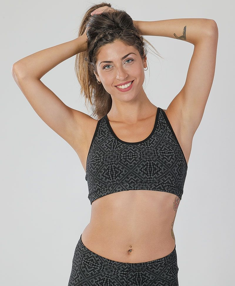Hexit Bra Top ➟ Black