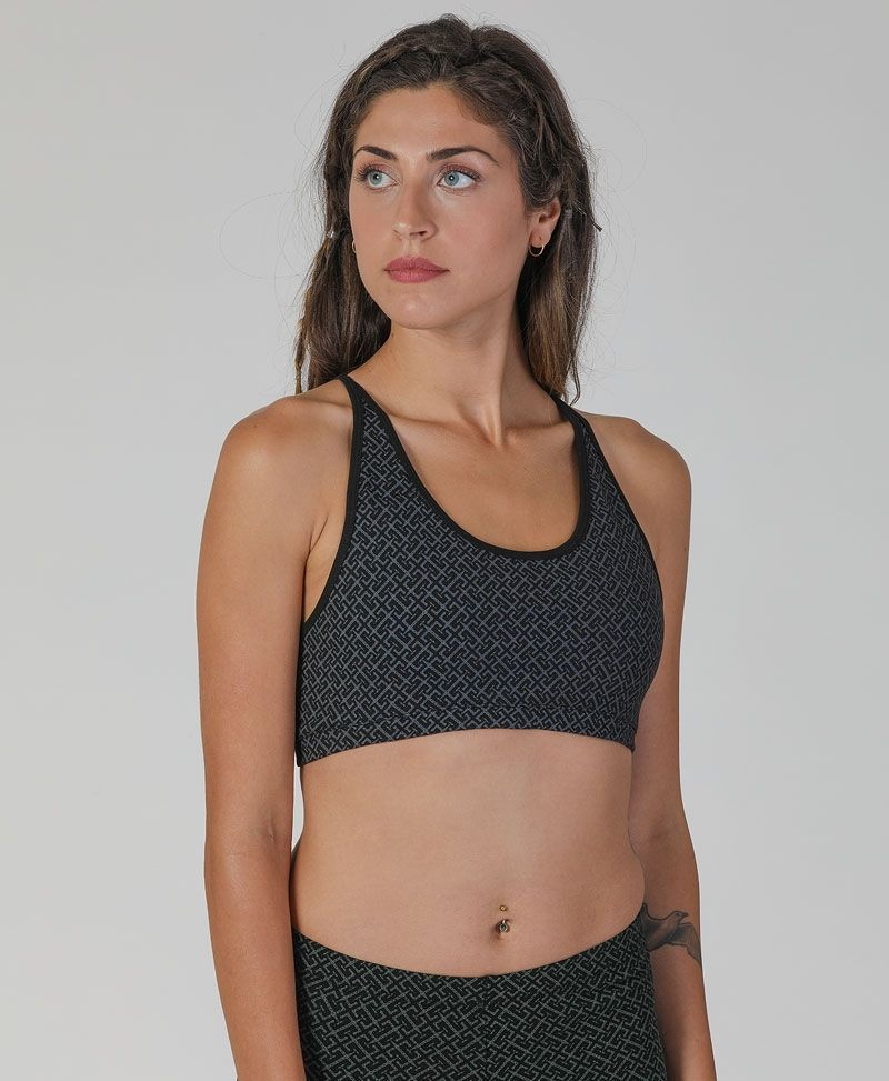 In/Out Bra Top ➟ Black