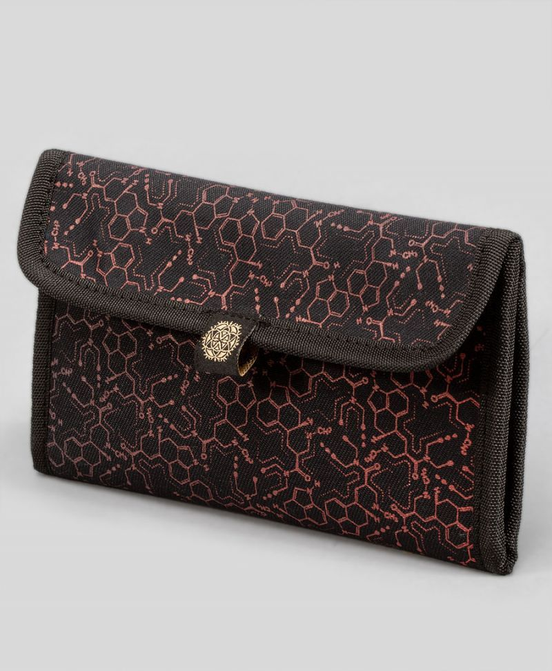 LSD Molecule Tobacco Pouch - Red