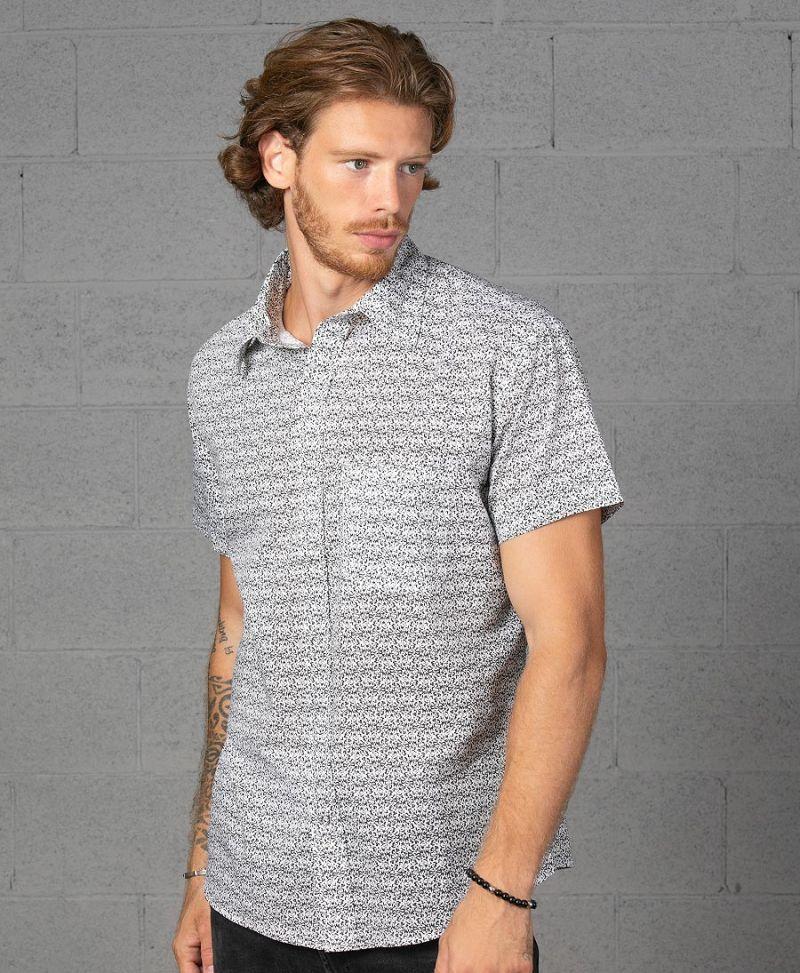 Rudraksha Button Shirt ➟ White
