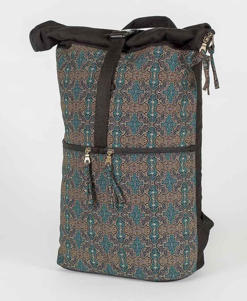 Shipibo Kené Roll-Top Backpack