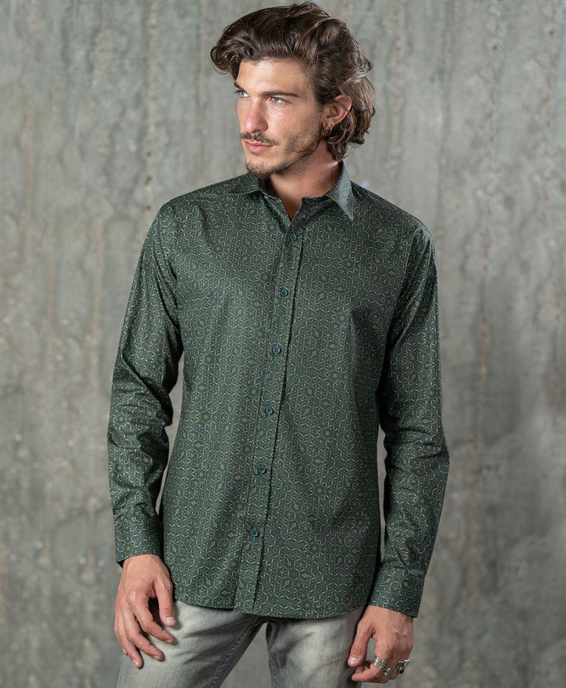 Seeds Button Shirt- Long Sleeve