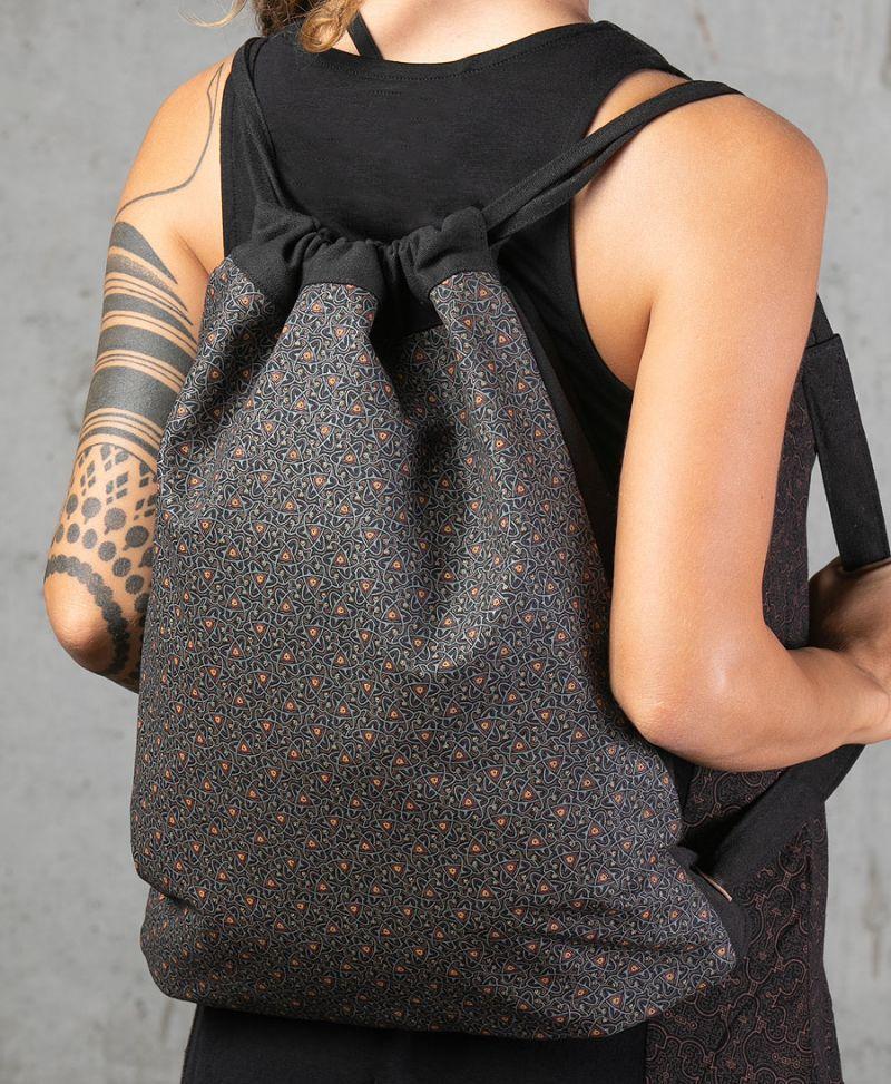Atomic Drawstring Backpack ➟ Black