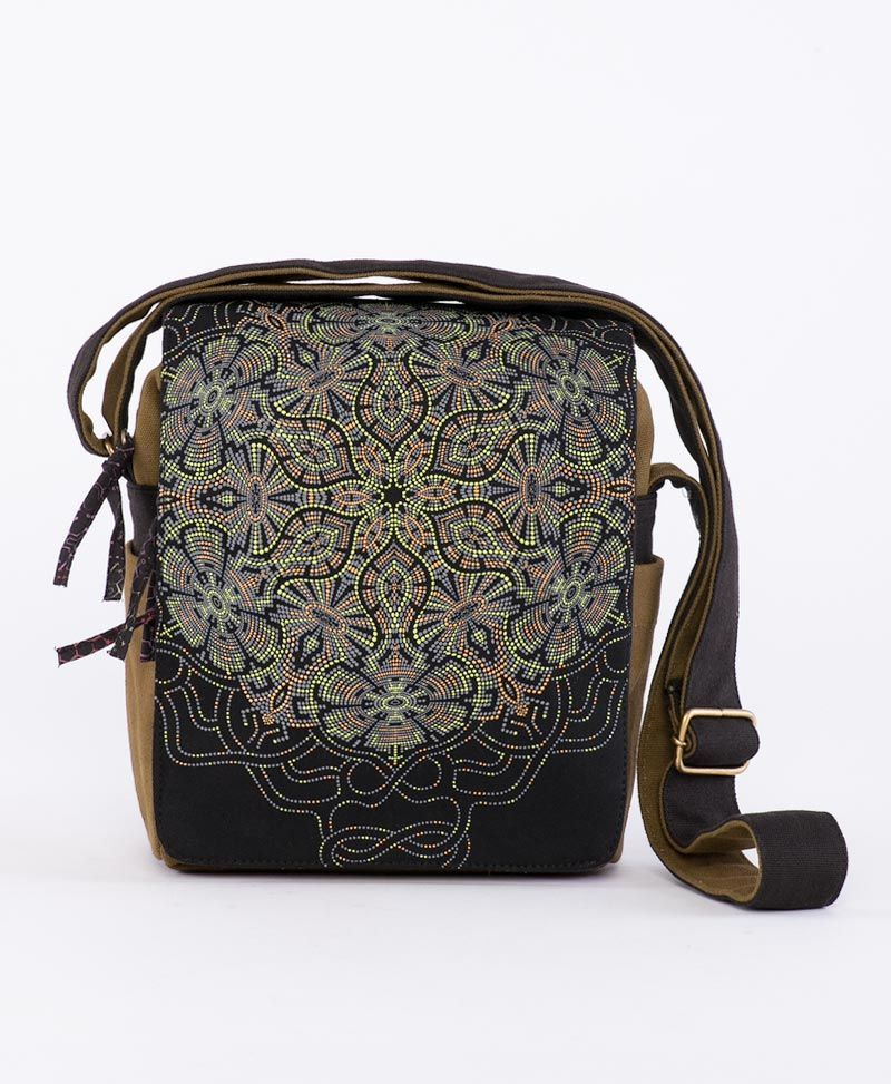 psychedelic clothing cross body bags